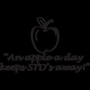 """""""An Apple A Day Keeps STD's Away!"""""""