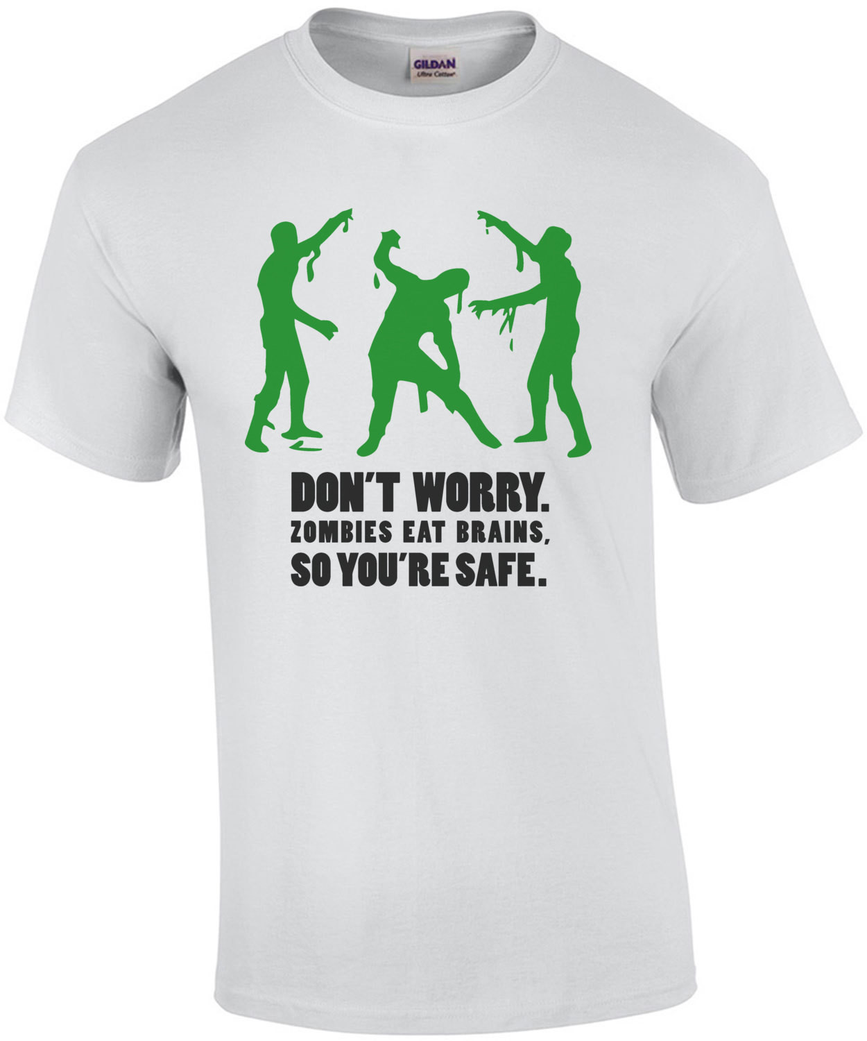 Don't worry. Zombies eat brains, so you're safe. Funny Zombie