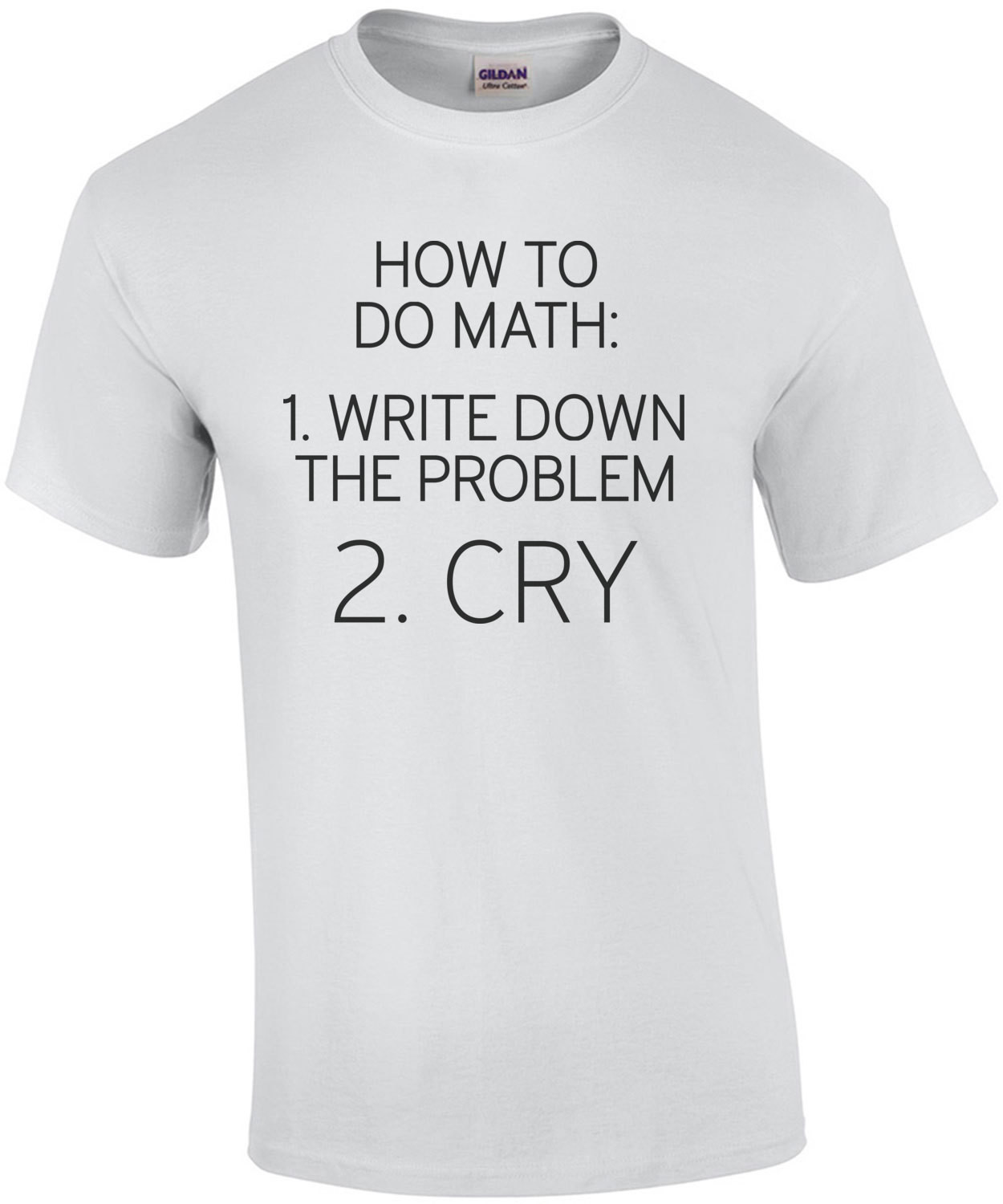 How to do math: 1. write down the problem 2. cry - math
