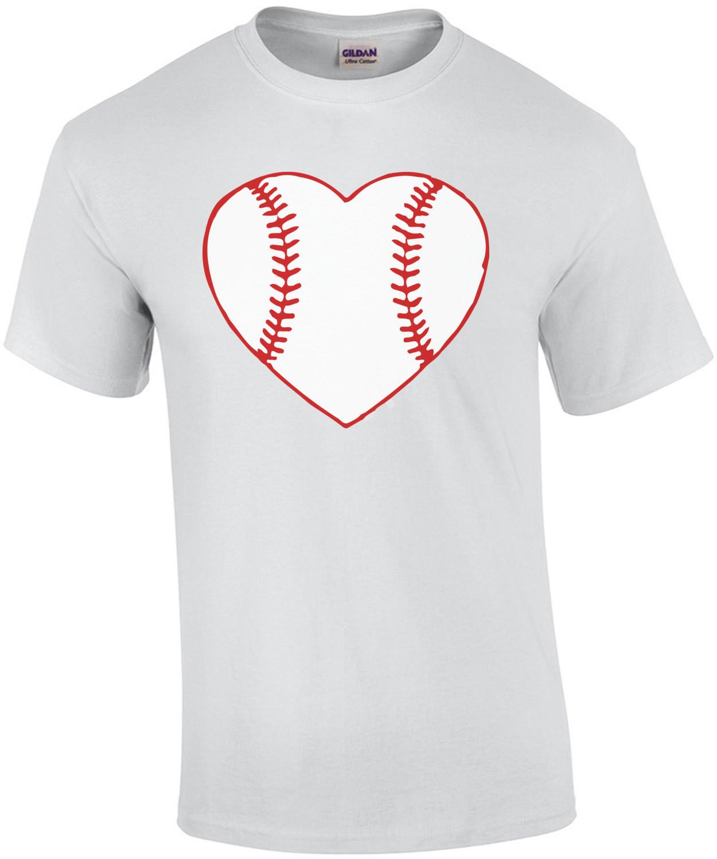 I love baseball - baseball heart