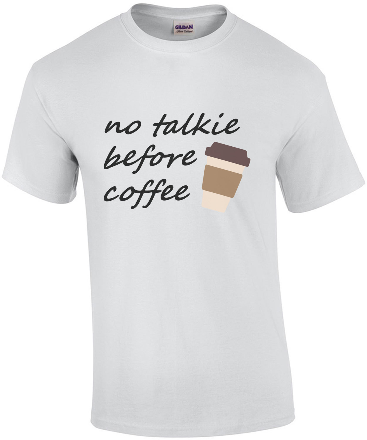 No talkie before coffee - funny coffee