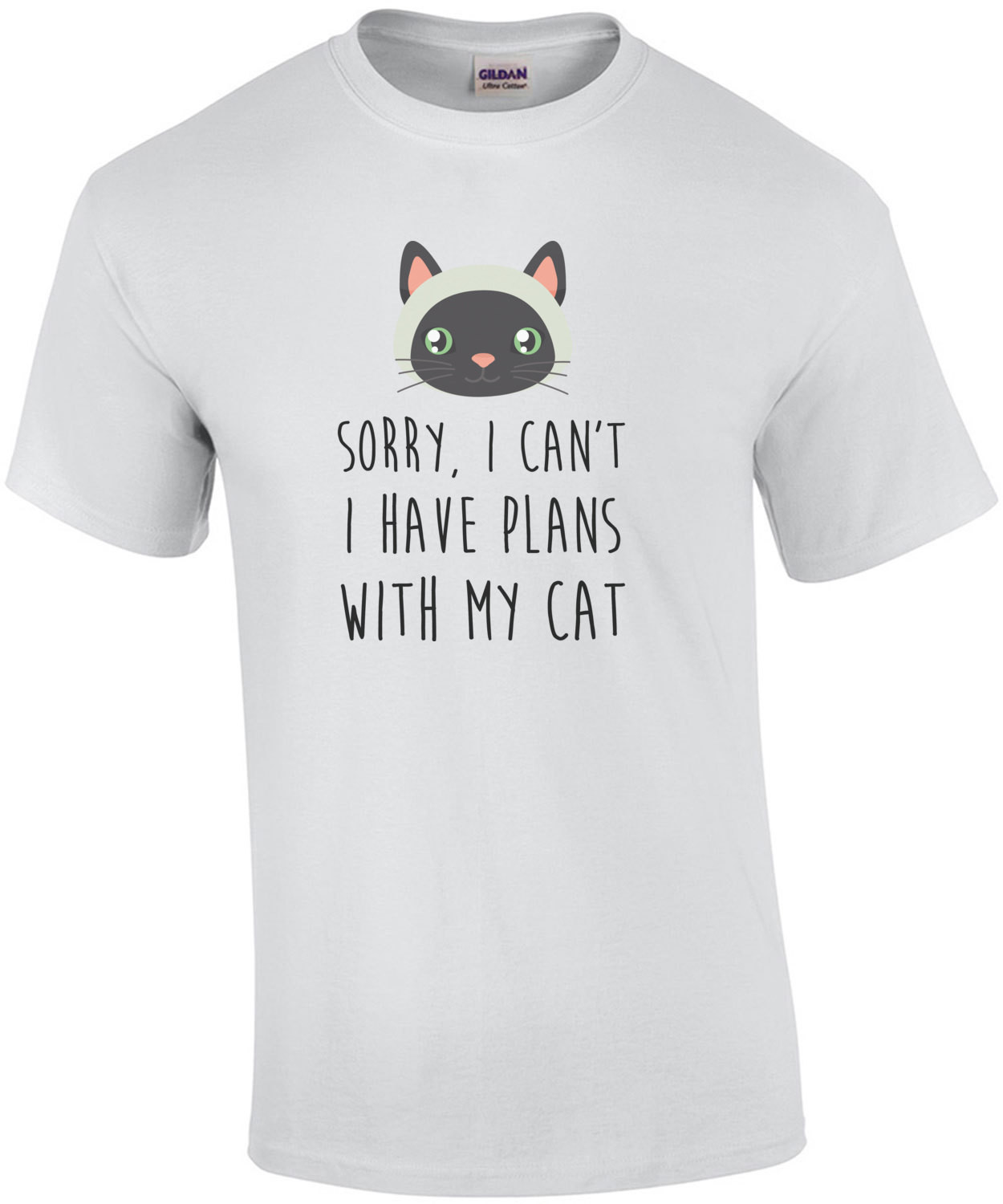 Sorry, I can't I have plans with my cat - funny cat