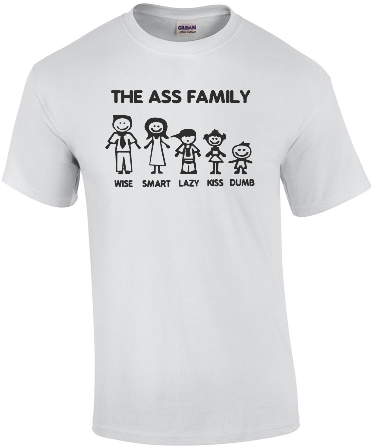 The Ass Family - Wise, Smart, Lazy, Kiss, Dumb - Funny