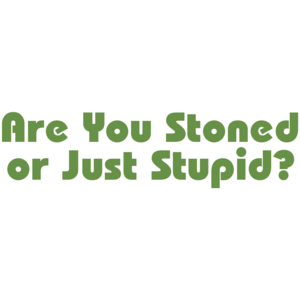 Are You Stoned Or Just Stupid