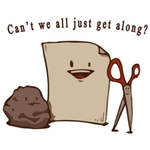 Can't we all just get along? Rock Paper Scissors - Funny
