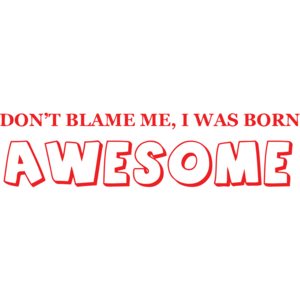 Don't Blame Me I Was Born Awesome