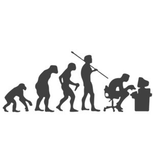 Evolution Computer User - Funny Evolution