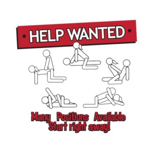 Help Wanted Many Positions Available Funny