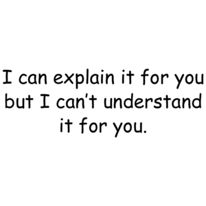 I Can Explain It For You.