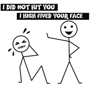 I not not hit you. I high fived your face.