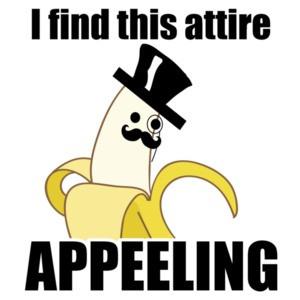 I find this attire appeeling - Pun