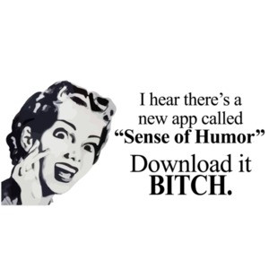 "I hear there's a new app called ""Sense of Humor"" Download it bitch."