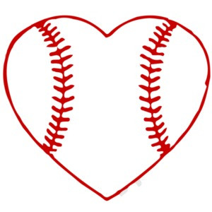 I love baseball - baseball heart