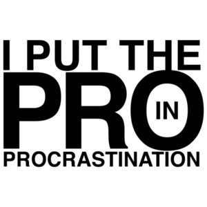 I Put The Pro In Procrastination