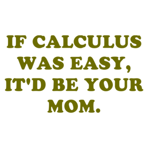 IF CALCULUS WAS EASY, IT'D BE YOUR MOM.