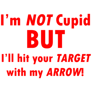 I'm Not Cupid But I'll Hit Your Target With My Arrow!  Funny Valentine's Day