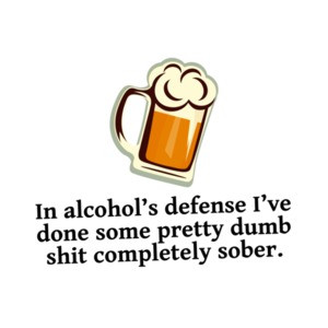 In Alcohols Defense, I've Done Some Pretty Dumb Shit Completely Sober