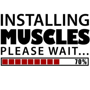 Installing Muscles. Please Wait. Funny Work Out