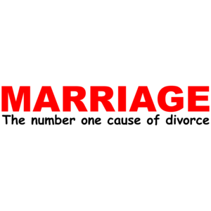 Marriage The Number One Cause Of Divorce Funny