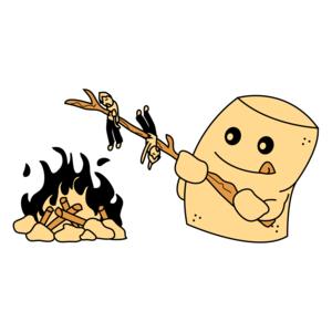 Marshmallow Roasting Funny