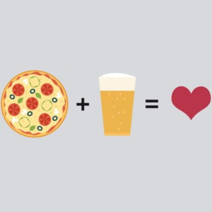 Pizza + Beer = Love