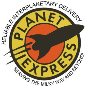 Planet Express - Reliable Interplanetory Delivery Serving The Milky Way And Beyond! Futurama