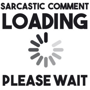 Sarcastic comment loading please wait - funny