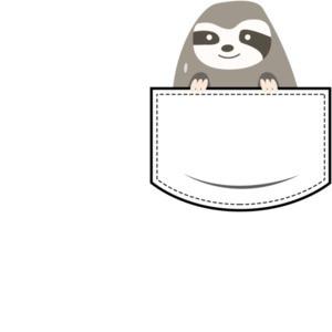 Sloth in pocket - pocket pet