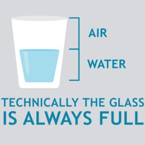 Technically the glass is always full - funny