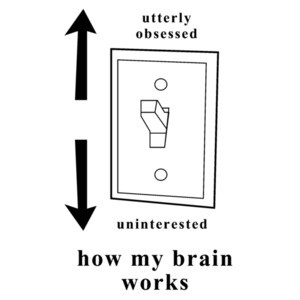 Utterly obsessed - Uninterested - how my brain works.