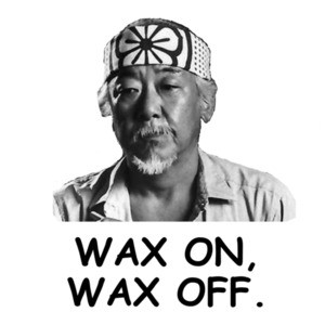 Wax On, Wax Off Karate Kid