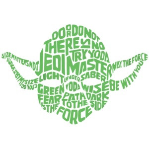 Yoda Typography - Star Wars