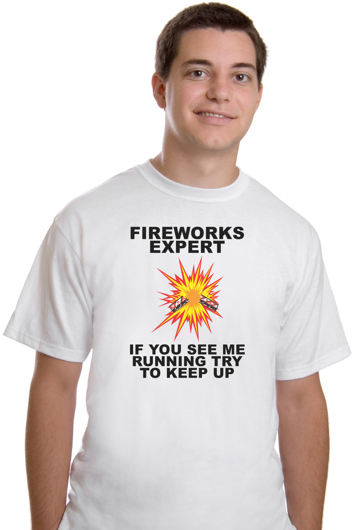59f0321a9 Fireworks Expert If You See Me Running Try To Keep Up - Fourth Of July