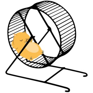 Lazy Hamster chilling on hamster wheel. Hamster