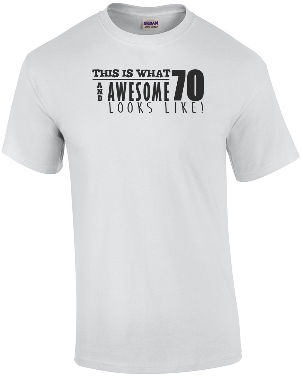 This Is What 75 And Awesome Looks Like 70th Birthday Tshirt Happy 70 Mens Regular White